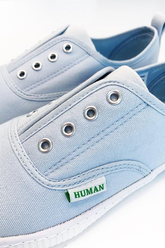 Lexi Sky Blue Canvas Sneaker by Human