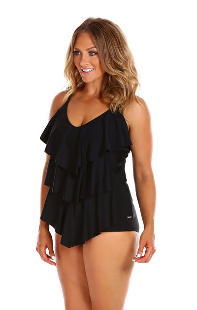 It's All About Black | V Neck Swimsuit