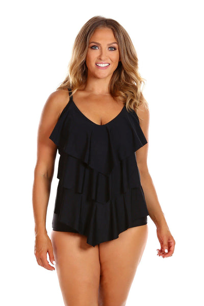 It's All About Black | Black Ruffle Swimsuit