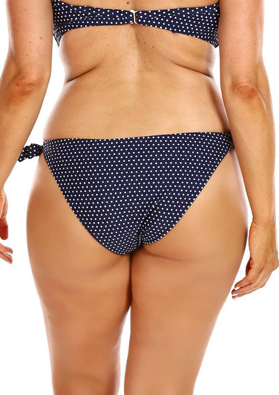 Navy and White Dots | Curvy Bikini Swimwear