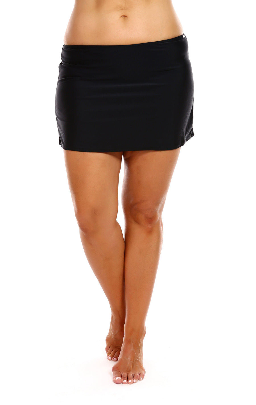 Plain Black Skirted Bottom