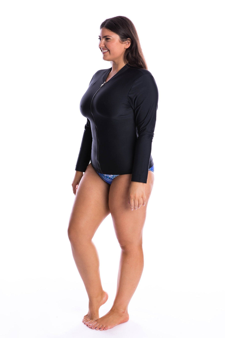 Plain Black Wetshirt Long Sleeve