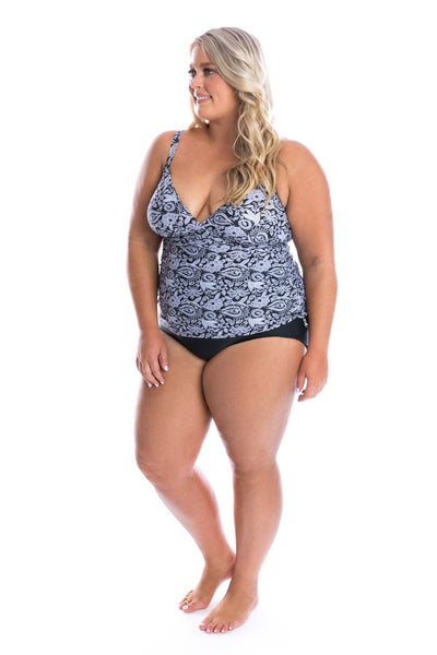 Raj | Black and White Plus Size Swimsuits