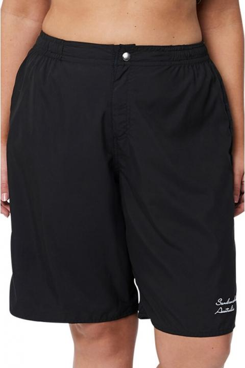 Sundrenched Plain Black Board Short Bottom