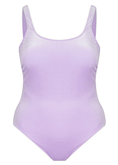 Velvet Lilac Plus Size One Piece