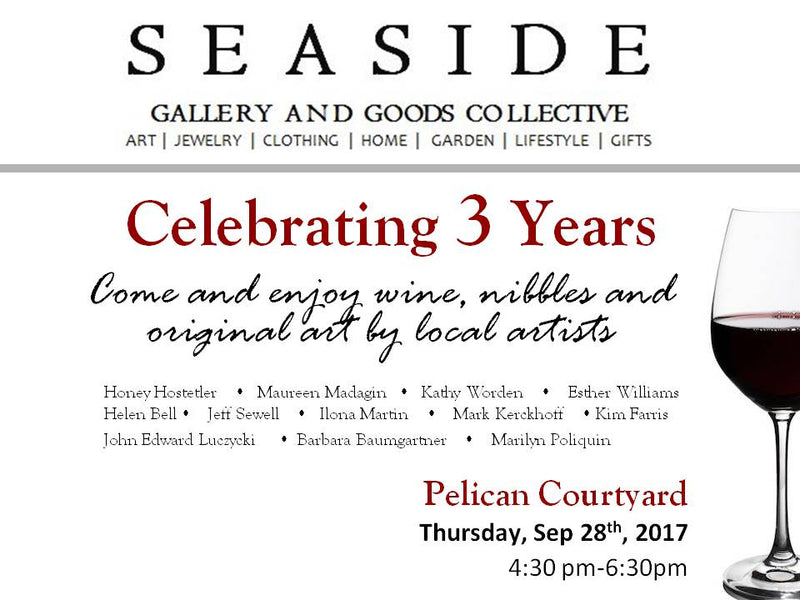 SEASIDE CELEBRATING 3 YEARS