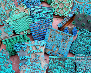 March Events in the Courtyard--Block Printing Workshop.