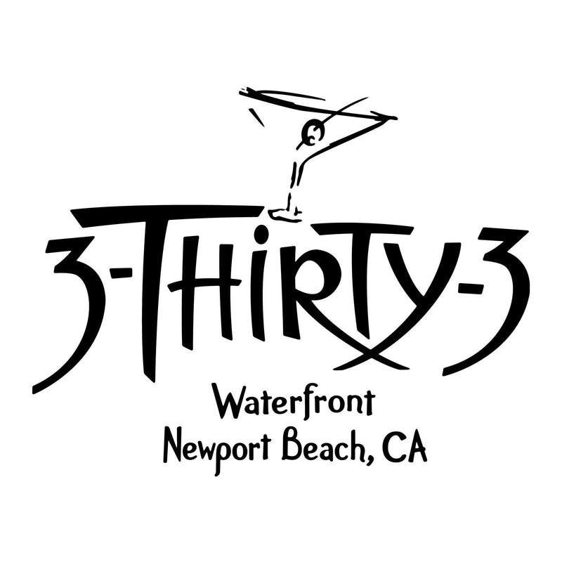 - NPB Tee - 3Thirty3  - Newport Beach T Shirt in White, by Rick Rietveld