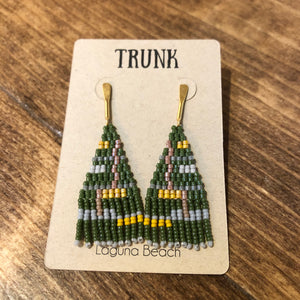 TL-JBP Beaded Olive Earring