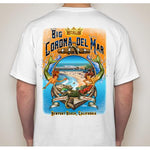 -NPB Tee -   Big Corona - Newport Beach T Shirt in White, by Rick Rietveld