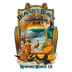 NPB - Blackies Beach Canvas Art 11X14-Rick Rietveld