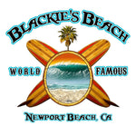 -NPB Tee -   Blackie's Beach-Long Sleeve Newport Beach T Shirt/White by Rick Rietveld