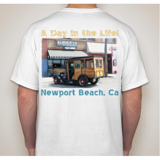 -NPB Tee -  A Day in the Life - Newport Beach T Shirt in White