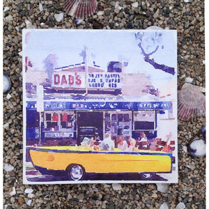 NPB - Boat Car at Dad's, Balboa Island - 12X12 Canvas Art