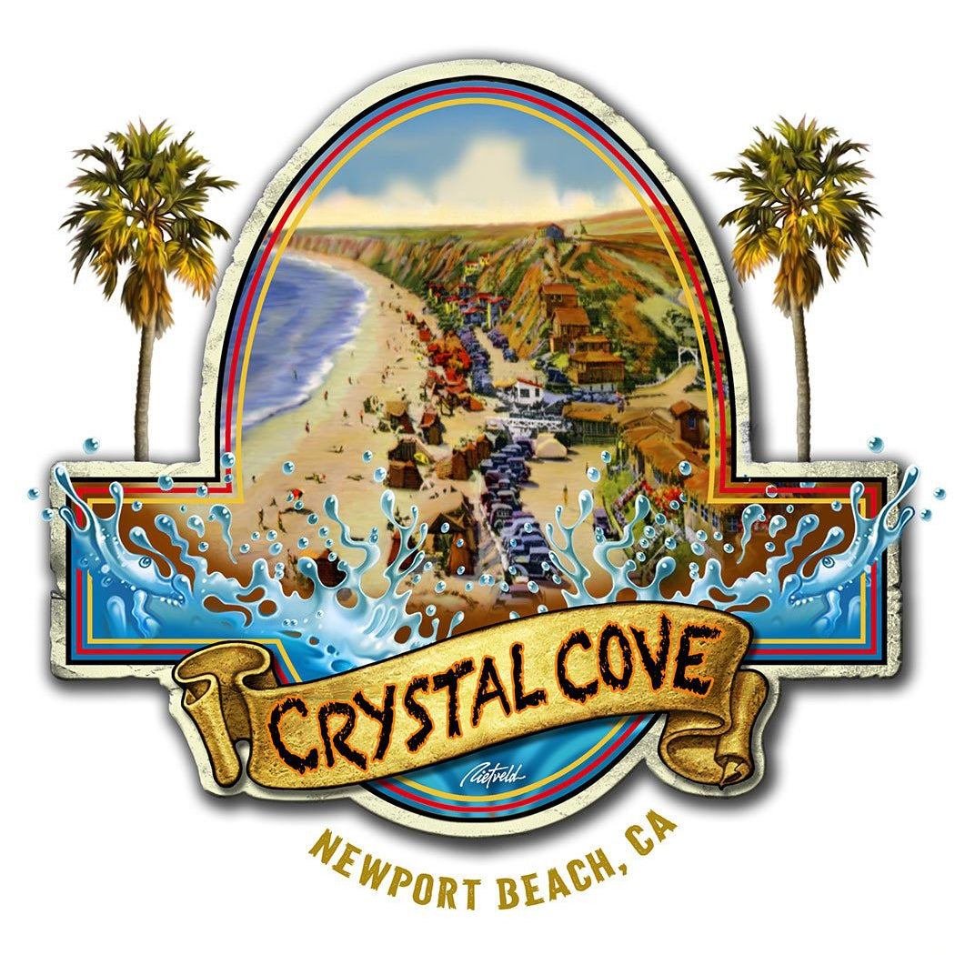 -NPB Tee -   Crystal Cove - Newport Beach T Shirt in White, by Rick Rietveld