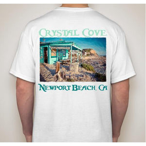 -NPB Tee -  Crystal Cove Shack - Newport Beach T Shirt in White