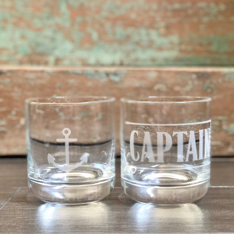 D Etched Whisky Glasses