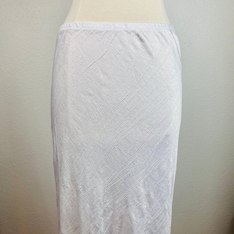 VH-756 White Satin skirt
