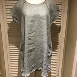 CC- Linen Tunic Dress with raw edge