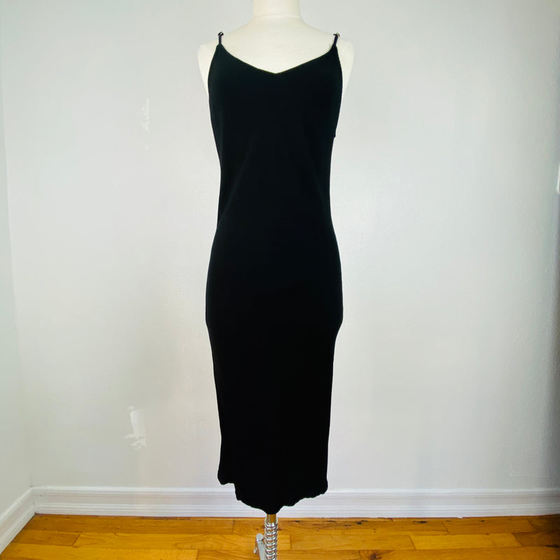VH-814 Blk Slip Dress