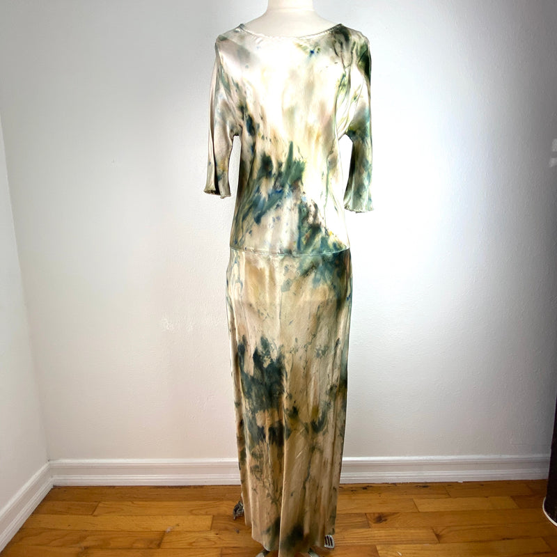VH-871 Laudine Tie Dyed Satin Dress