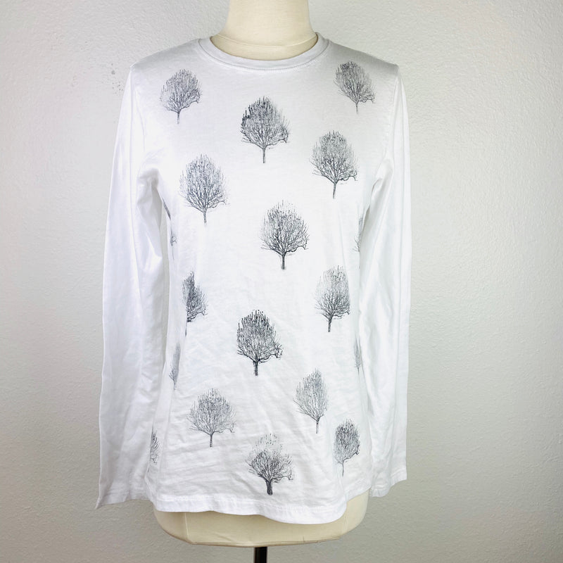VH-T37 White Long Sleeve Tree Tee