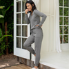 D Barefoot Dreams Lux Lounge Scrunch Jogger - heather grey