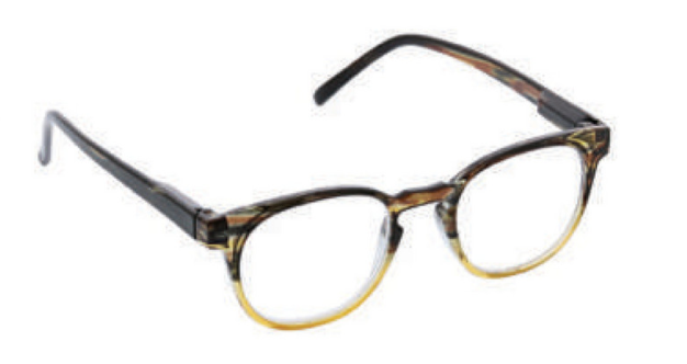D ・Peepers Men's Reader Glasses - Dynomite (tan/brown)