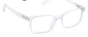 D ・Peepers Men's Reader Glasses - Hans (clear)