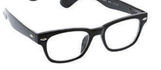D ・Peepers Men's Reader Glasses - Clark Focus/Black