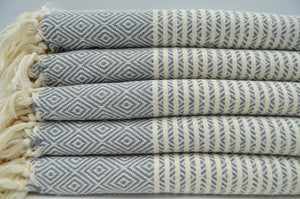 NS Turkish Towel-Gray Hand Towel
