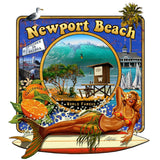 - NPB Tee - The Wedge  - Newport Beach T Shirt in Black, by Rick Rietveld
