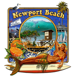 NPB -  The Wedge Canvas Art-Newport Beach- by Rick Rietveld
