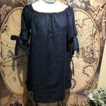 CC- Linen Off shoulder dress