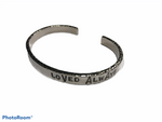 "CC- Studio SUZAN Sterling cuff hand hammered ""Blessed Mamma"" or ""Loved Always"""