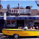 NPB - Boat Car at Dad's, Balboa Island - Canvas Art