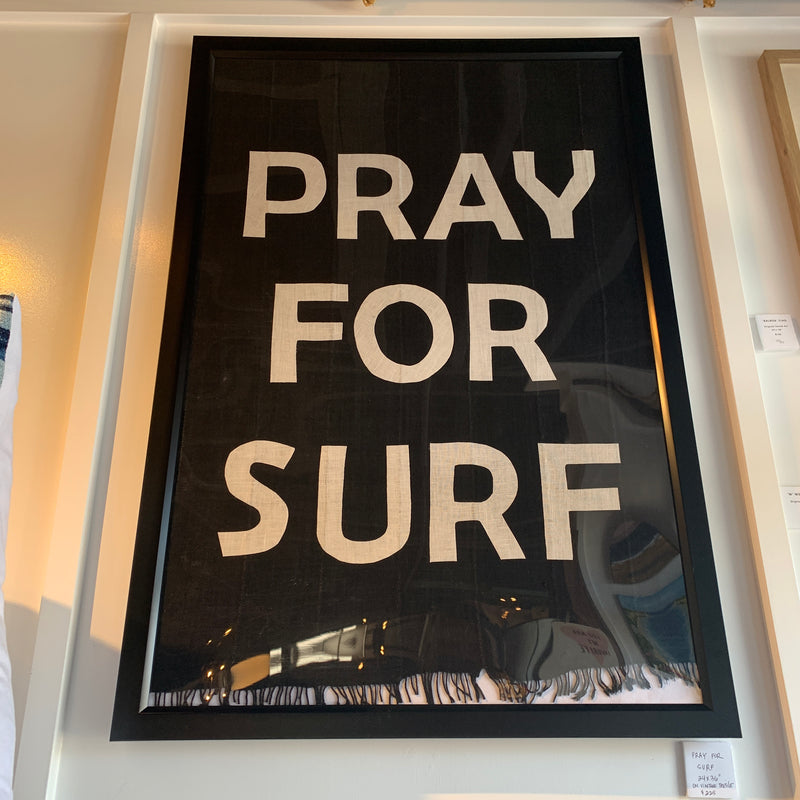 BB - 24x36 Custom Pray for Surf Textile Art