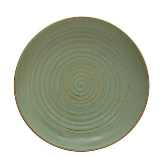 Stoneware Serving Bowl, Reactive Glaze, Matte Celadon Color (Each Varies)