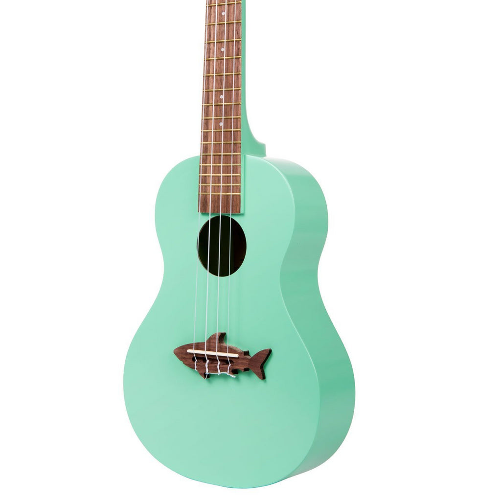 MA - Surf Green Concert Shark Ukulele