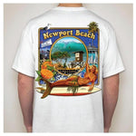 - NPB Tee -  The Wedge  - Newport Beach T Shirt in White, by Rick Rietveld