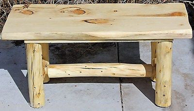 ... Rustic Log Bench   Cabin, Lodge, Country Log Furniture   Free Shipping