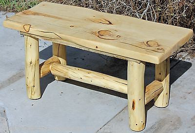 Rustic Log Bench Cabin Lodge Country Log Furniture Free