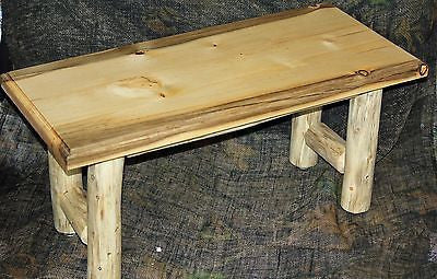 Rustic Log Coffee Table and 2 End Tables Set - Cabin, Lodge, Country Log Furniture - Choice Of Tops - Shipping Is $105.00 For Set