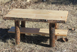 Rustic Log Coffee Table - Cabin, Lodge, Country Log Furniture - Choice Of Top - Free Shipping