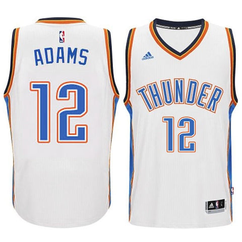 finest selection 0b652 1da59 nba jerseys oklahoma city thunder 12 steven adams white jerseys