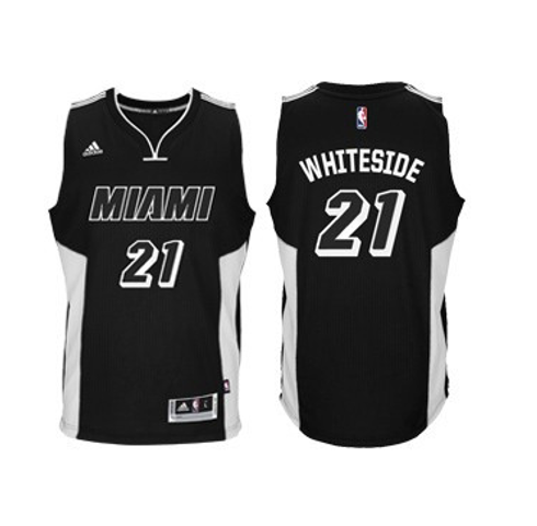 Hassan Whiteside - Miami Heat - Adidas Black Tie Swingman Jersey