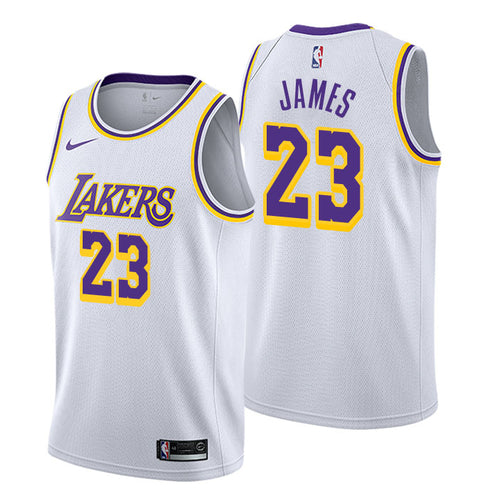 newest fec31 47140 LeBron James - Los Angeles Lakers - Association Swingman Jersey (2018 19)