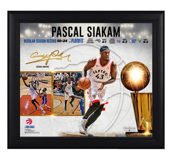 Pascal Siakam - Toronto Raptors - 2019 Champion Framed Collage (38cm x 43cm)