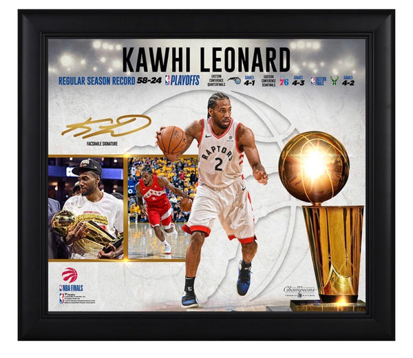 Kawhi Leonard - Toronto Raptors - 2019 Champion Framed Collage (38cm x 43cm)