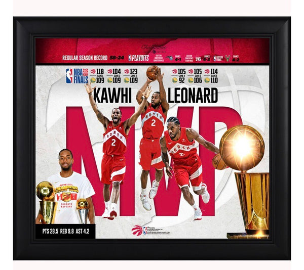 Kawhi Leonard - Toronto Raptors - 2019 Finals MVP & Champion Framed Collage (38cm x 43cm)